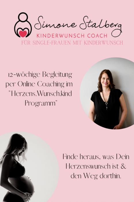 Gastblockbeitrag von Simone Stalberg - Kinderwunsch Coach für Single-Frauen mit Kinderwunsch