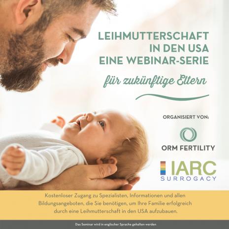 ORM Fertility und IARC bieten eine Reihe kostenfreier Webinare zum Thema 'Leihmutterschaft in den USA'
